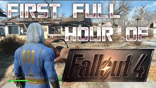 Fallout 4 Gameplay - FIRST HOUR WALKTHROUGH/PLAYTHROUGH!