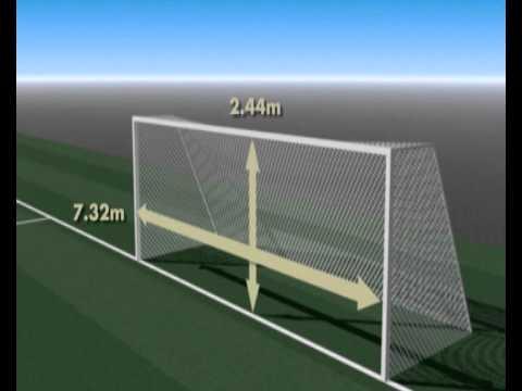 Futbol 11 regla 1 el terreno de juego youtube for Regla fuera de juego futbol