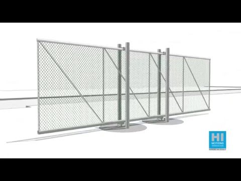 Cantilever sliding gates post mounted