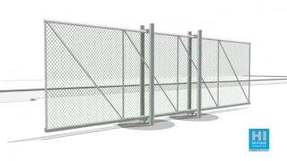 Cantilever sliding gates post mounted