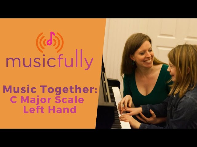 Musicfully - Music Together - How to Play C Major Scale Left Hand Piano