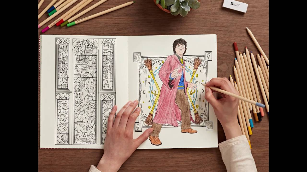 Harry potter coloring book youtube