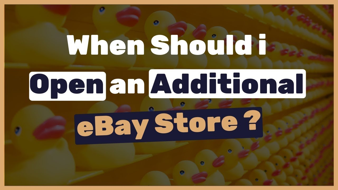 When it's the best time to create additional eBay stores (Stealth accounts  / Linked eBay stores)?