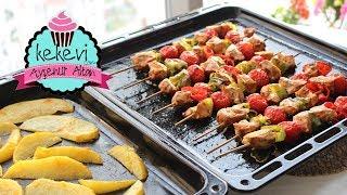 Fırında Tavuk Şiş ve Baharatlı Patates, Kolay ve Leziz Bir Yemek   Ayşenur Altan Yemek Tarifleri
