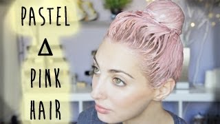 One of Brittany Balyn's most viewed videos: Pastel Pink ∆ Coral Hair Tutorial | Brittany Balyn
