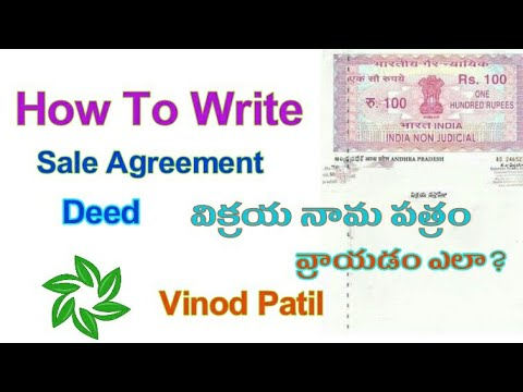 How to Write Sale Agreement