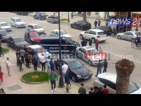 Aksident në Vlorë, fugoni i policisë përplaset më një makinë