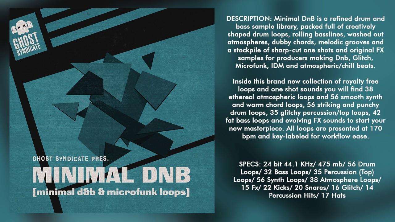 SAMPLE PACK: MINIMAL D&B (Royalty Free): Drum and Bass/Glitch/Minimal