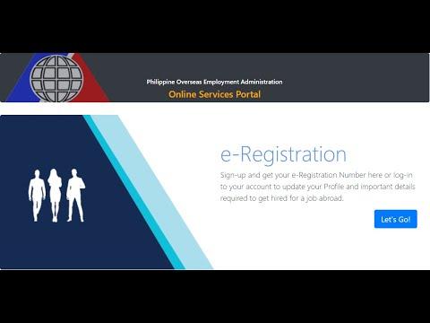 2021 EREGISTRATION   E-SERVICES   POEA    TAGALOG DUBBED