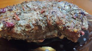 Свинина запечённая  с вишней и черносливом/ мясо запечённое в духовке с вишней и черносливом