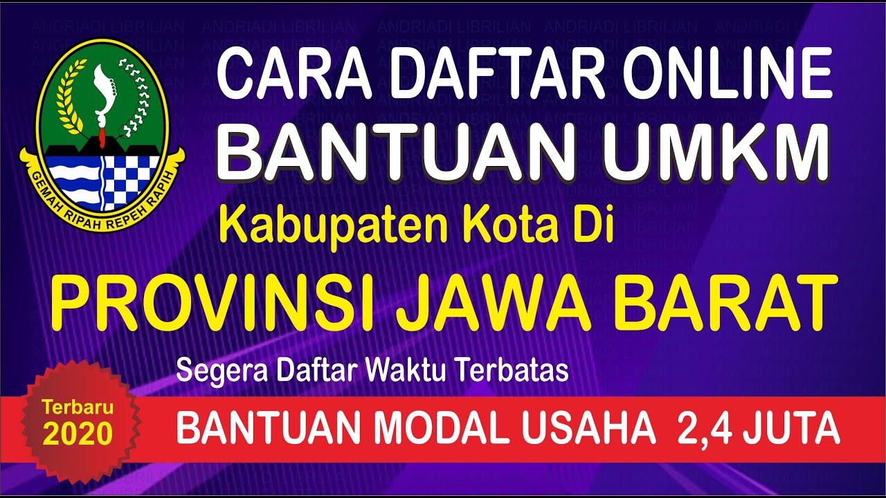 Cara Daftar Bantuan Umkm Online Jawa Barat Youtube