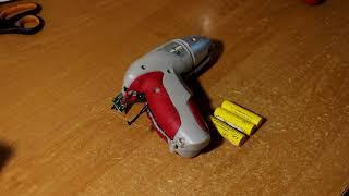 Ремонт батареи аккумуляторной отвёртки Intertool