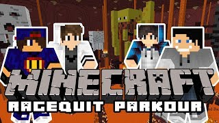 Minecraft Ragequit Parkour: Endowe Skoki [10/11] w/ GamerSpace, Tomek90, Happy