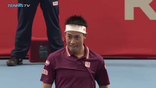 Nishikori Dispatches Gasquet to Set Medvedev Final  | Tokyo 2018 Semi-Final Highlights