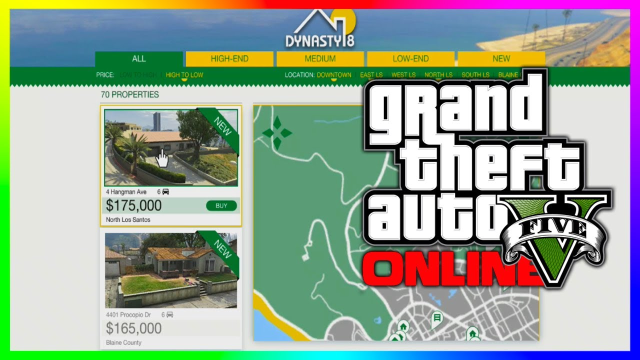 Gta 5 new homes dynasty 8 properties gta 5 independence for Fenetre sale gta 5