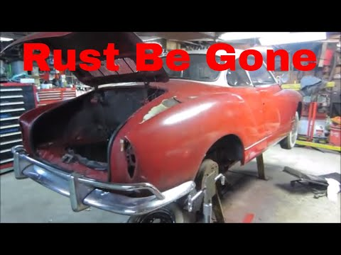 1965 karman ghia finishing up the metal work.
