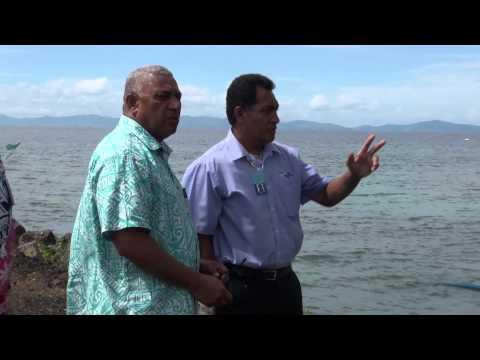 Fijian Prime Minister Voreqe Bainimarama inspect Desalination Plant