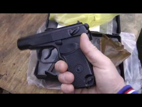 Пневм.пистолет МР-658К - обзор, стрельба, измерение скорости