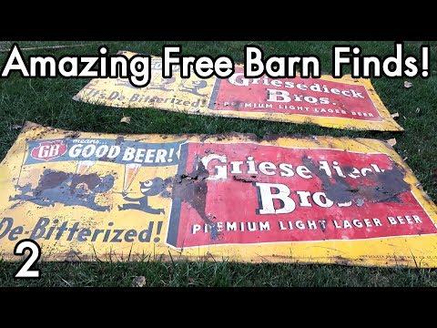 Random Bits 0182: Free Barn Finds p2, Antique Metal Signs, Bricks, Well Pump