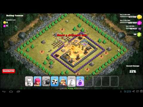 Clash of Clans Rolling Terror 3 Star Campaign Strategy Guide TH8
