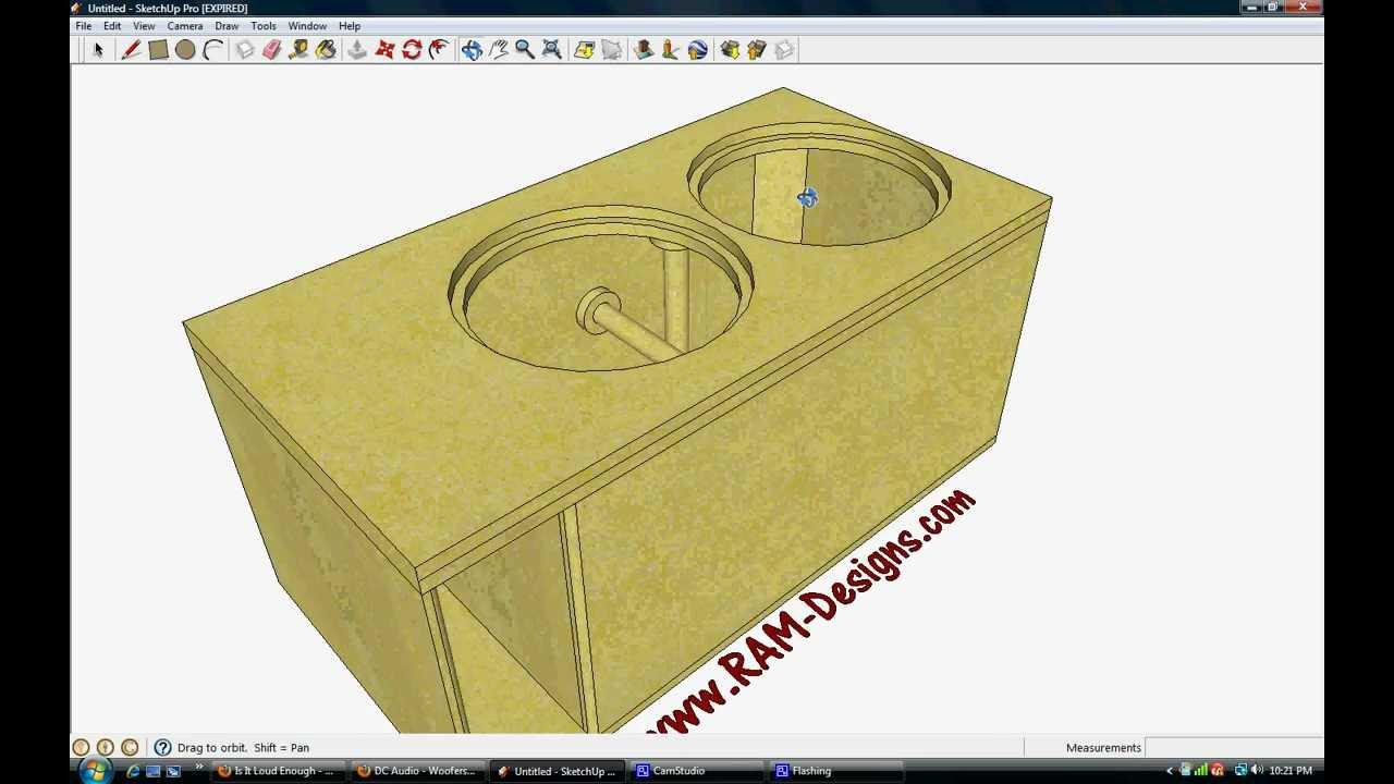 Ram Designs Dc Audio Level 3 15 Ported Sub Box Design Youtube