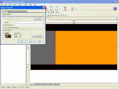 Tutorial Cara Membuat Website (NVU Web Easy) - 08. Image