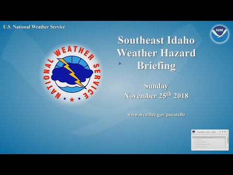 11/25/18 Hazard Briefing - tranquil weather today/monday