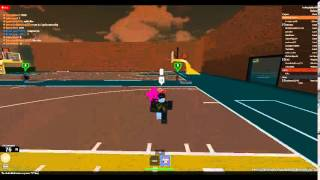 Pwning the ice brothers in a handle battle on roblox UBL park