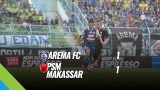 [Pekan 8] Cuplikan Pertandingan Arema FC vs PSM Makassar, 13 Mei 2018