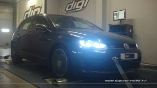 VW Golf 7 gti 220cv Reprogrammation Moteur @ 281cv Digiservices Paris 77 Dyno