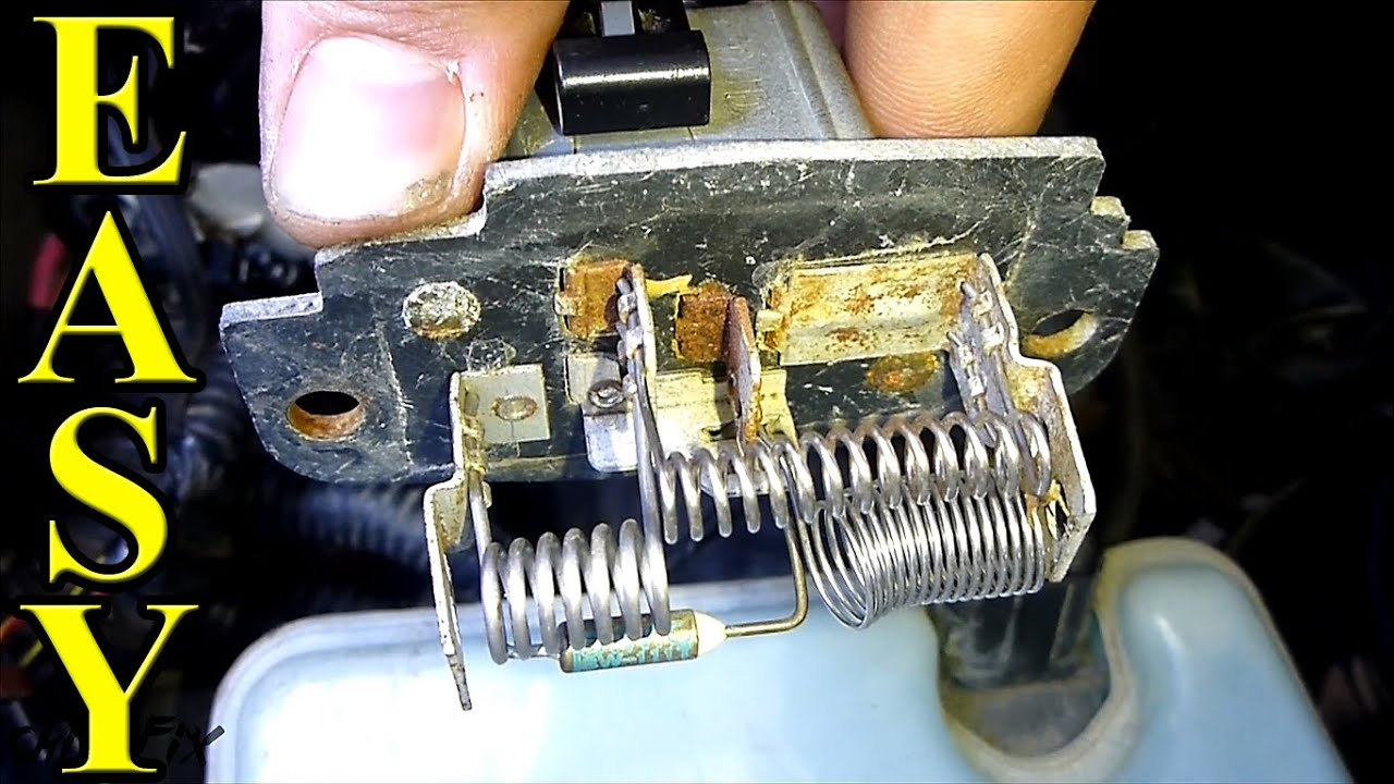 How To Replace A Blower Motor Resistor Youtube