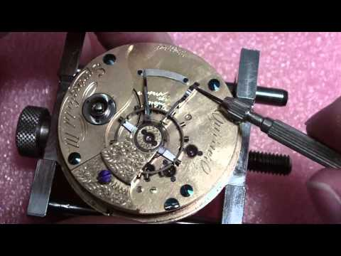 How I take apart a pocket watch, Illinois Currier