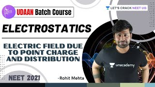 Electrostatics-2 | Electric Field due to Point charge and Distribution | NEET Physics | Rohit Mehta