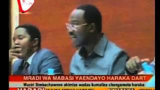 Waziri Aibukia Mradi wa Mabasi ya Mwendo Kasi