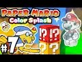 Paper Mario Color Splash - Wii U Gameplay Walkthrough PART 7 - Daffodil Peak: Kamek & Unfurl Block