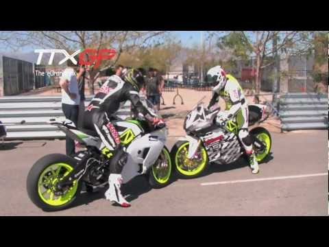 Electric Motorcycle Motorbike Burn Out Miller TTXGP North America 2012