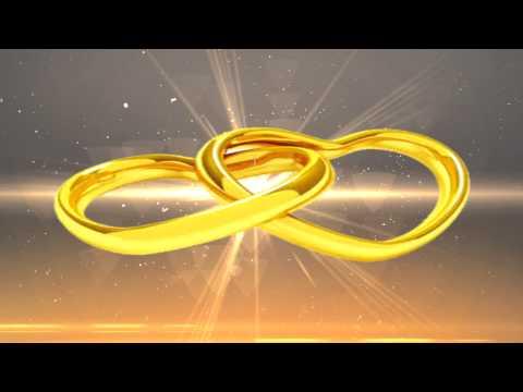 Футаж. Кольца свадебные. Альфа-канал