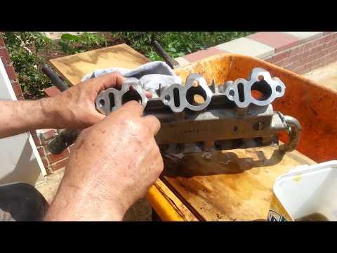 HOW TO CLEAN LOWER INTAKE MANIFOLD IN  ENGINE V6-V8- V4