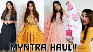 Huge Myntra Haul | Part 1 | Kurti Palazzo, Kurta Set, Maxi Dress, Suit Sets | Libas, Anouk and more!