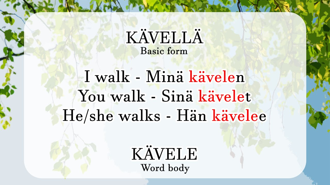 Aura's Finnish Lesson 2 part 2: The Word Body - YouTube