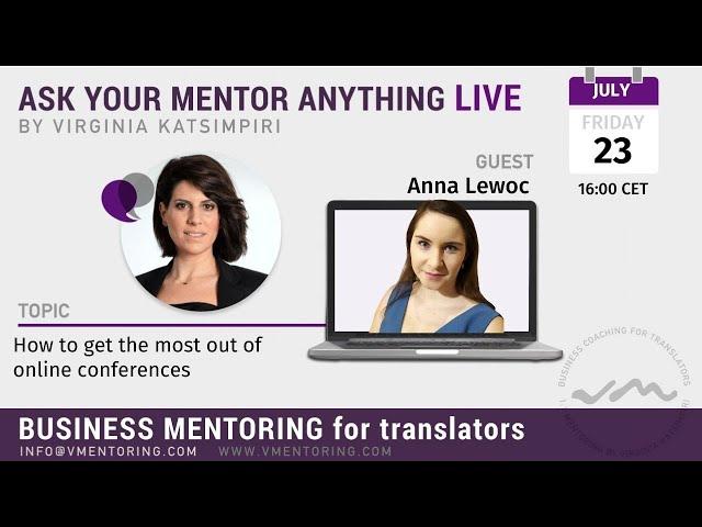 Ask Your Mentor Anything with Virginia Katsimpiri FT. Anna Lewoc