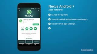 Tips & Tricks - Nexus smartphone: Apps installeren (Android 7)