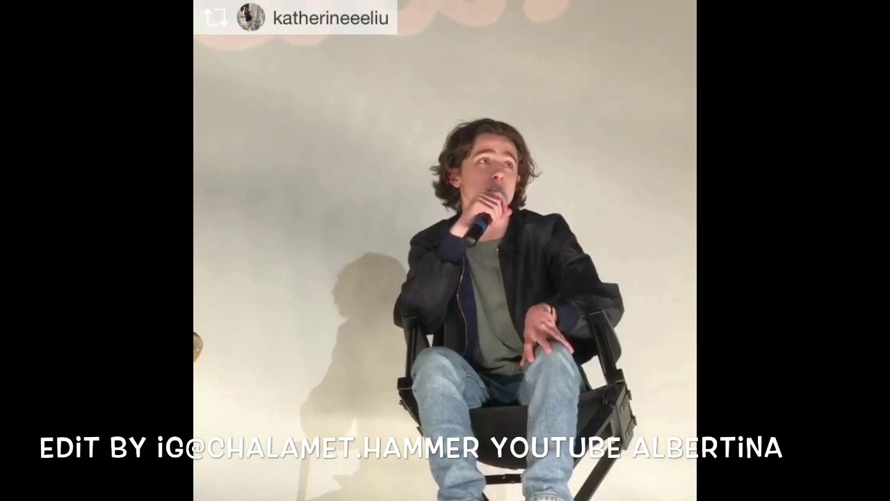 Timothée Chalamet Q&A at the Paris and Regal(ig and twitter compilation)  12/16 call me by your name