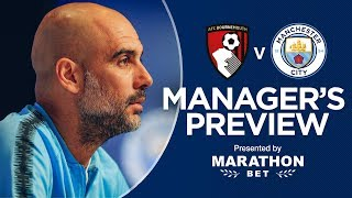 Pep Guardiola previews Bournemouth v Man City | PRESS CONFERENCE