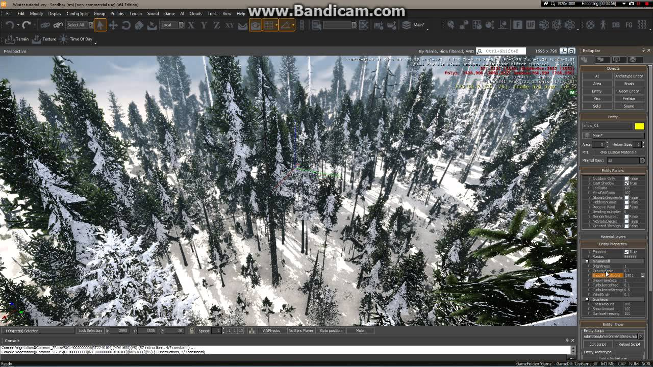 Cryengine 3 snow map in 10 min (my custom map) - YouTube