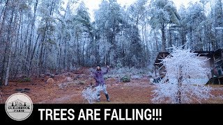 Very Dangerous Ice Storm! Off-Grid Living Gets REAL!