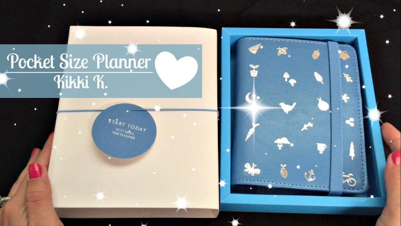 kikki k pocket size sweet collection small time planner youtube