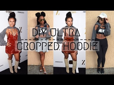 Karrueche Inspired Diy Ultra Cropped Hoodie