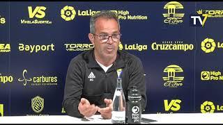 Rueda de prensa de Álvaro Cervera en previa Cádiz-Albacete (01-03-19)
