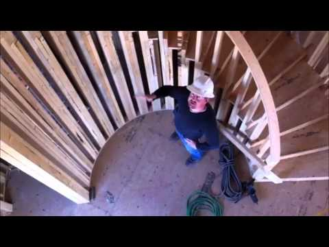 how to build a circular staircase in minecraft
